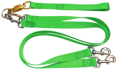 Pet Walker Plus No Tangle Leash for 2 Dogs - Large / Green