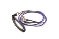 Bun-Gee Pup-EE Double Walker Dog Leash - Small / Purple
