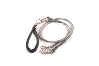 Bun-Gee Pup-EE Double Walker Dog Leash - Small / Grey