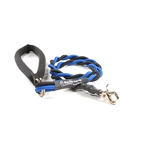 Bun-Gee Pup-EE Single Walker Dog Leash - Medium / Blue/Black 3 foot