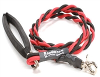 Bun-Gee Pup-EE Single Walker Dog Leash - Red/ Grey/Black 6 Foot