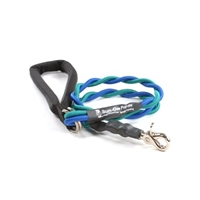 Bun-Gee Pup-EE Single Walker Dog Leash - Medium / Teal/Blue 3 Foot