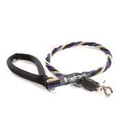 Bun-Gee Pup-EE Single Walker Dog Leash - Large / Purple/Black/Gold 3 Foot