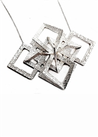 Corset Diamond Pendant necklace by Janesko