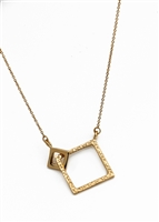 Double Square Link Necklace by Janesko