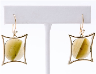 Custom tourmaline and 18k gold earrings by Janesko