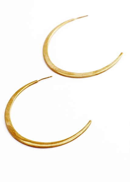 Curve Half Hoop earrings by Janesko