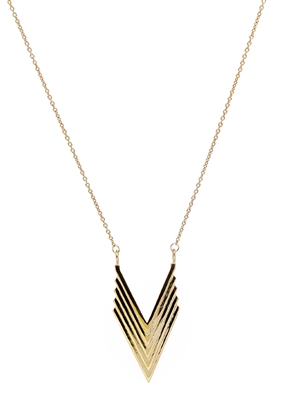 Chevron Necklace by Janesko