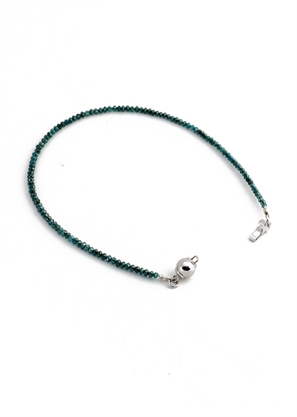 Custom Aqua Diamond Bracelet