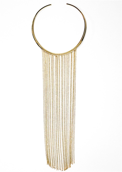 Custom Fringe Collar Necklace
