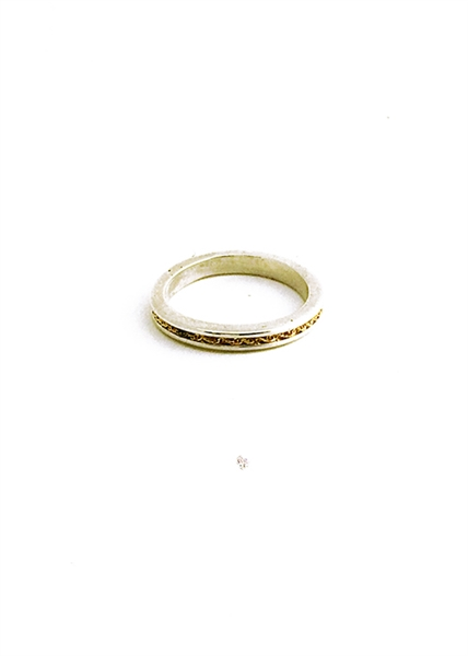 Custom Silver Ring With 14k Gold Chain