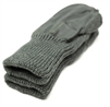 Grey Swiss Military Wool Mittens With Leather Palm MREdepot
