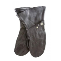 Swedish Black Leather Mittens