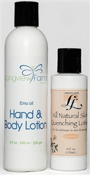 Emu oil lotions