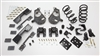 "34016 2007-2013 Quad Cab Silverado Lowering Kit 4/6"" w/C-NOTCH,SPINDLES,COILS,REAR HANGERS,SHORT SHACKLE,FLIP,B.S."