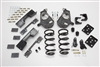 "34023 2007-2013 S-Cab Silverado 4/7"" Lowering Kit w/C-NOTCH,SPINDLES,COILS,FLIP KIT, & BUMP STOPS"
