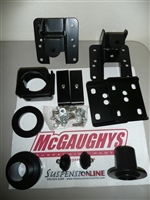 "2007-13 GM Silverado (1/2 ton) (2WD, ALL CABS) 2/4"" w/ADJ. STRUT RINGS,FLIP KIT,ADJ. REAR HANGERS)"