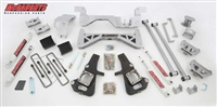 "McGaughy's 2002-10 GM 3500 Dually Only Truck (2WD) 7"" Lift Kit (silver powder-coat) w/ front & rear shocks"