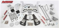 "McGaughy's 2002-10 GM 3500 Dually Only (2WD) 7"" Lift Kit (silver power-coat) **GAS MOTOR** w/ front & rear shocks"