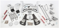 "2002-10 GM 3500 Dually Only Truck (4WD) 7"" Lift Kit (silver powder-coat) w/ front & rear shocks"