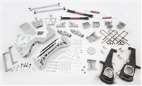 "2011-18 GM 3500 Dually Only, (4WD, GAS MOTOR) 7"" Lift Kit (silver powder-coat) w/ front & rear shocks"