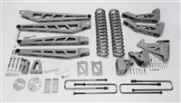 "McGaughy's Ford F-250 Lift Kit 2005-07 4WD 8"" Lift  - Phase 3 (Silver Powder Coat)"