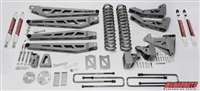 "McGaughy's Ford F-350 Lift Kit 2005-07 4WD 8"" Lift  - Phase 3 (Silver Powder Coat)"