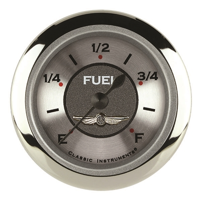 "CLASSIC INSTRUMENTS ALL AMERICAN 2 1/8"" FUEL GAUGE PROGRAMMABLE - FULL SWEEP"