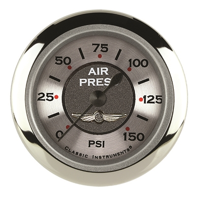 "CLASSIC INSTRUMENTS ALL AMERICAN 2 1/8"" AIR PR 150psi ELECTRIC FULL SWEEP"