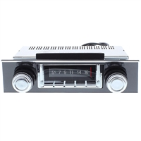 1967-1968 Chevrolet Camaro 300 watt Custom Autosound USA-740 AM FM Car Stereo/Radio with built-in Bluetooth, AUX Inputs, Color Change LCD Digital Display