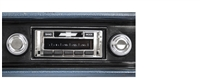 1970-1972 Chevrolet Impala USA-630 II High Power 300 watt AM FM Car Stereo/Radio with AUX Input, USB Input, iPod Docking Cable. No modifications to original dash required.