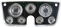 "ALL AMERICAN 7-GA 5"" SPEEDO, TACH, 4- 2 1/8"" GAUGES (fuel 0-90ohm), 3 3/8"" CLOCK"