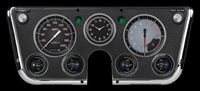 "AUTOCROSS GREY 7-GA 5"" SPEEDO, TACH, 4- 2 1/8"" GAUGES (fuel 0-90ohm), 3 3/8"" CLOCK"