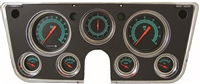 "G-STOCK 7-GA 5"" SPEEDO, TACH, 4- 2 1/8"" GAUGES (fuel 0-90ohm), 3 3/8"" CLOCK"