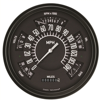 1966-77 Original Bronco Six-Instrument (Speedometer, Tachometer, Fuel [75-10 ohm], Temperature, Voltage, and Oil) Package.
