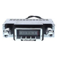 1964-1966 Ford Mustang 300 watt USA-740 AM FM Car Stereo/Radio with built-in Bluetooth, AUX Inputs, Color Change LCD Digital Display