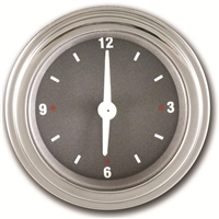 "Classic Instruments SG Series 2 1/8"" Clock with Stainless Low Step Bezel Flat Glass Lens"