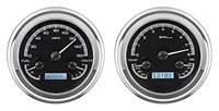 Dakota Digital 47 48 49 50 51 52 53 Chevy GMC Truck Analog Dash Gauge Black Alloy White VHX-47C-PU-K-W