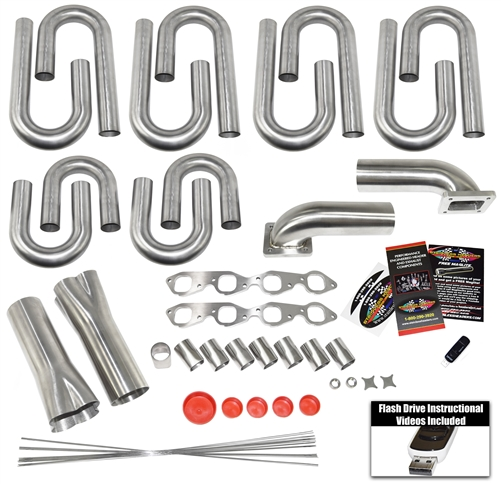 Big Block Chevy Square Port Turbo Header Build Kit- Our