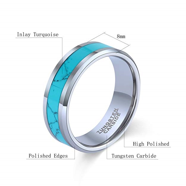 Style # 6CT427-TY0 Cobalt Ring Black Enamel Plated /& non-Plated High Polish Beveled edge Comfort Fit Wedding Band Ring for Men /& Women 6mm