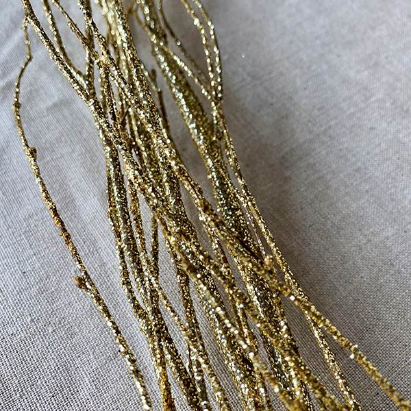 Birch Branches Gold Sequin Sparkle