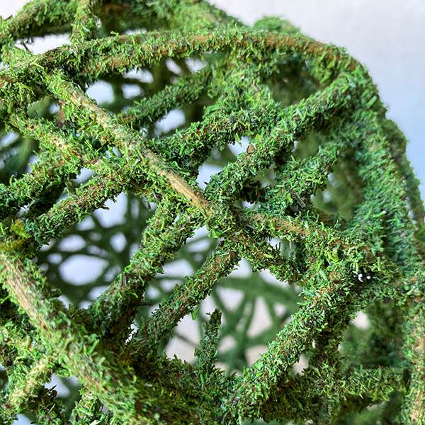 Curly Willow Ball Mosscoat 8""