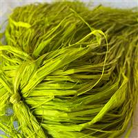 Raffia Trimmed Chartreuse