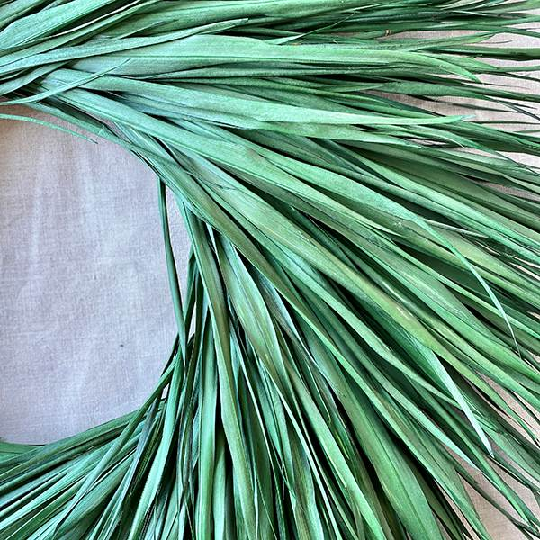 Palm Wreath Preserved 33""