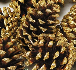Tipped Cones Gold Sparkle