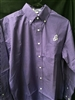 Vantage Men's Purple/White Gingham JG Button-Down