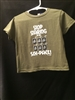 Toddler Stop Staring T-Shirt Olive Green