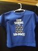 Toddler Stop Staring T-Shirt Blue