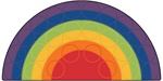 Rainbow Rows Rug - Semi-Circle - 6' x 12' - CFK1262 - Carpets for Kids