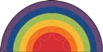 Rainbow Rows Rug - CFK12XX - Carpets for Kids